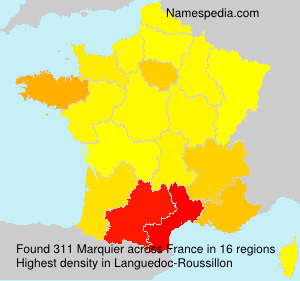 Surname Marquier in France