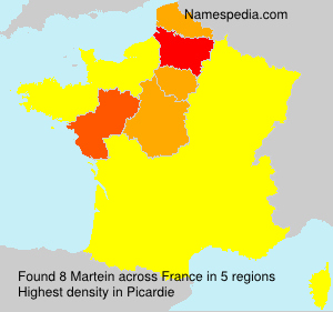 Surname Martein in France