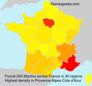 Surname Martina in France
