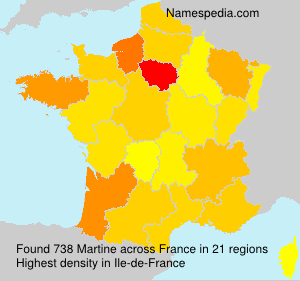 Surname Martine in France