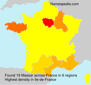 Surname Massar in France