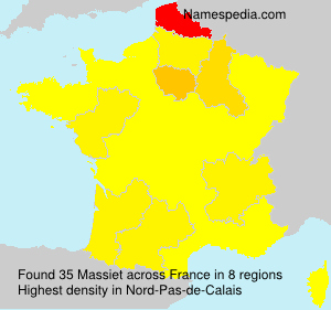 Surname Massiet in France