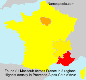 Surname Massouh in France