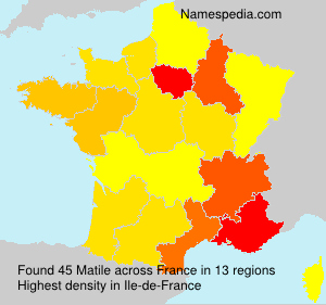 Surname Matile in France