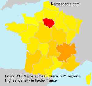 Surname Matos in France