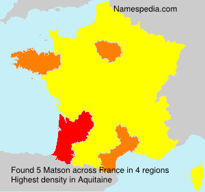 Surname Matson in France