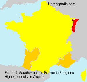 Surname Maucher in France