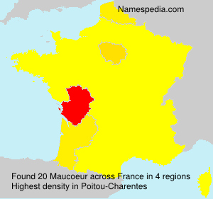 Surname Maucoeur in France