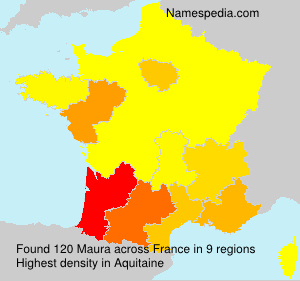 Surname Maura in France