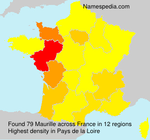 Surname Maurille in France
