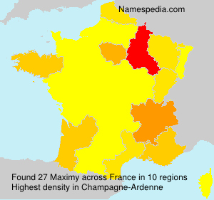 Surname Maximy in France