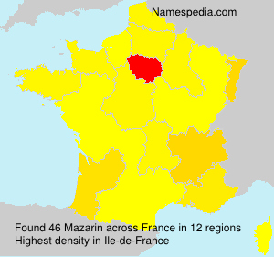Surname Mazarin in France