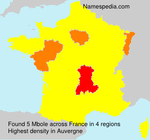 Surname Mbole in France