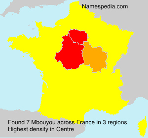 Surname Mbouyou in France