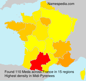 Surname Meda in France