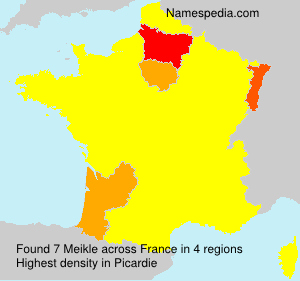 Surname Meikle in France
