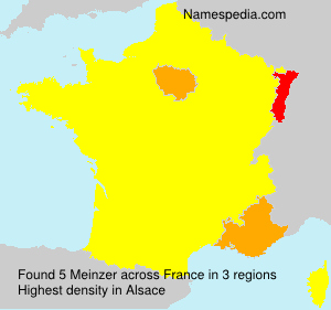 Surname Meinzer in France