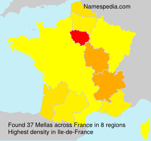 Surname Mellas in France