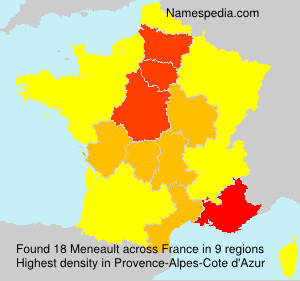 Surname Meneault in France