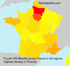 Surname Merelle in France