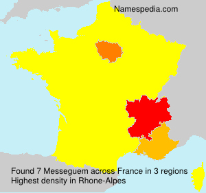 Surname Messeguem in France