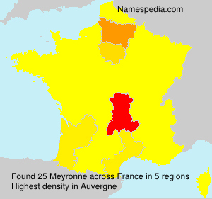 Surname Meyronne in France