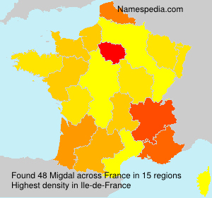Surname Migdal in France
