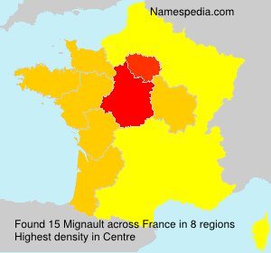 Surname Mignault in France
