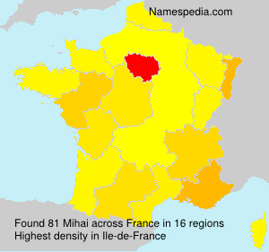 Surname Mihai in France