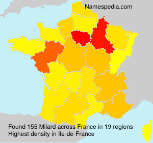 Surname Milard in France