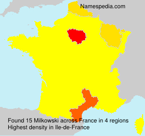 Surname Milkowski in France