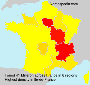 Surname Milleron in France