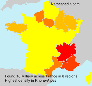 Surname Milliery in France