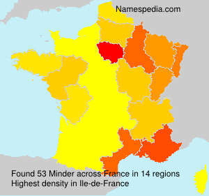 Surname Minder in France