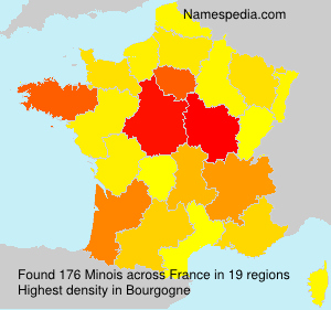 Surname Minois in France