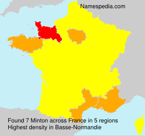 Surname Minton in France