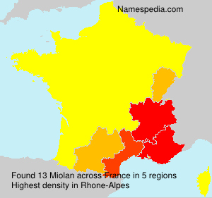 Surname Miolan in France
