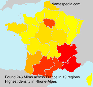 Surname Miras in France