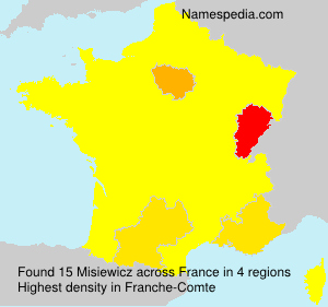 Surname Misiewicz in France