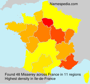 Surname Misserey in France