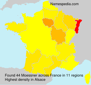 Surname Moessner in France