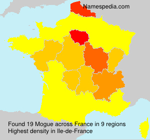 Surname Mogue in France