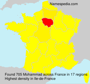 Surname Mohammad in France