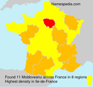 Surname Moldoveanu in France