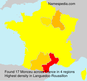 Surname Monceu in France