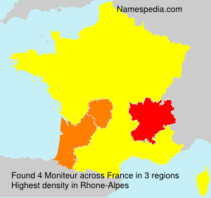 Surname Moniteur in France