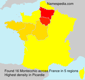 Surname Montecchio in France
