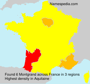 Surname Montgrand in France