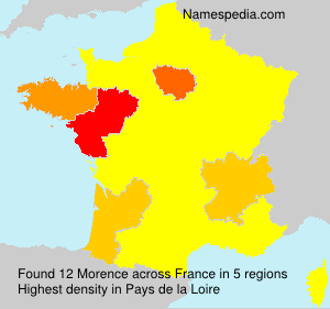 Surname Morence in France