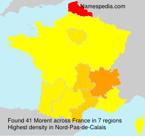Surname Morent in France